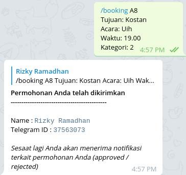 Telegram bot booking driver