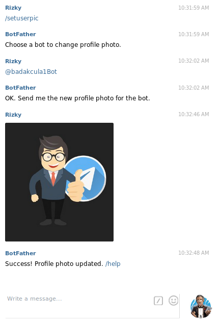 membuat bot telegram - set bot picture