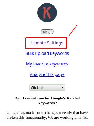 cara riset keywords - update setting keywords-everywhere